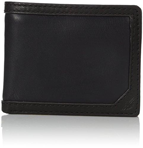 dockers-mens-belen-passcase-wallet-with-zipper-black-one-size