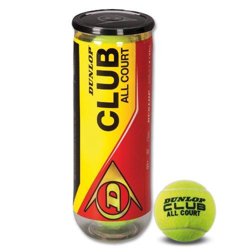 DUNLOP Tennisball Club All Court 4er Dose, Gelb, One Size