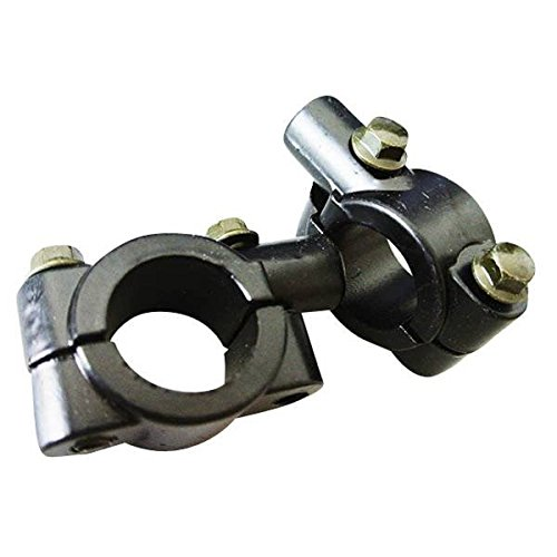 8mm schwarz Lenker Motorrad Spiegel-Halterung Aluminium der Klemme 1Paar