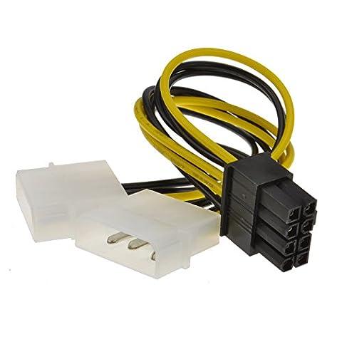 8 Broches PCI Express PCIe Alimentation câble De Deux 4 Broches Molex LP4 adaptateur