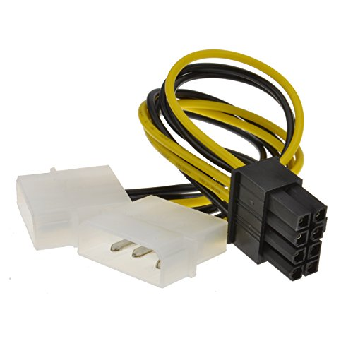 8 Pines PCI Express PCIe Energía Cable De Dual 4