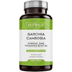 NUTRALIE | Garcinia Combogia | Brûleur de Graisse et Coupe Faim 100% Naturel | Haute Concentration 60% HCA | 90 Gélules Vegans