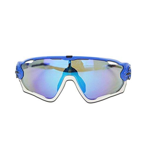 YFQ Outdoor-Reitbrille Fahrrad Sportspiegel Multi-Lens-Sonnenbrille Sonnenbrille