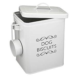 Boîte à Biscuits pour Chien avec Couvercle - Collection de friandises pour Animaux de Compagnie - Pelle Incluse