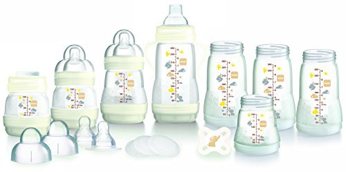MAM Anti-Colic Self-Sterilising Bottle Starter Set (White) 413aIaWpFCL