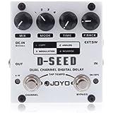 ammoon JOYO D-SEED Doble Canal Digital Delay Pedal de Efectos de Guitarra Con Cuatro Modos