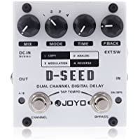JOYO D-SEED Doble Canal Digital Delay Pedal de Efectos de Guitarra Con Cuatro Modos
