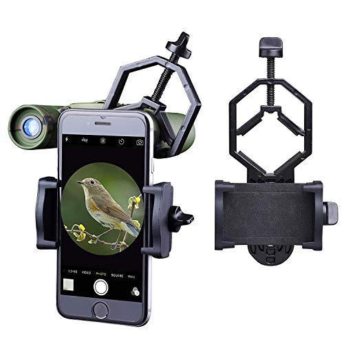 Libershine Universal Telefon Adapter und Mount Stativ-Halterung für Smartphone Sony Samsung Moto - Kamera- Spektiv/Teleskop/Mikroskop/Ferngläser - Handy-mikroskop