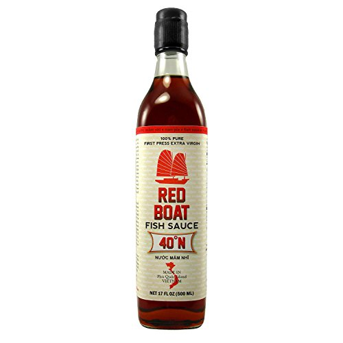 Premium Extra Virgin Red Boat Fish Sauce (500ml Large) - The Finest Fish Sauce On The Planet.