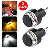 #5: PR Motorcycle DRL/Turn Signal LED Light Blinker Indicator Handle Bar End Universal Fitment for All Bike- for Hero HF Deluxe Alloy Self Start
