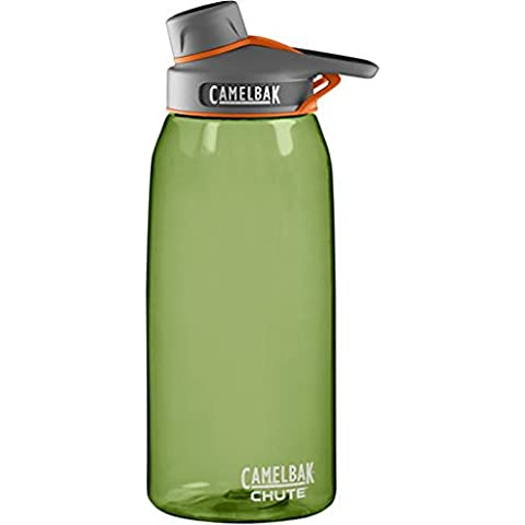 Camelbak Wasserflasche Chute - Bidón para bicicleta, color verde, capacidad 1 litro