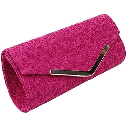 Ricamo Evening Bags Purses ciuccio, per matrimonio, festa a forma di rosa, colore: rosso, arancione, colore: grigio