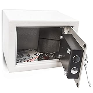 Relaxdays Home/Office Steel Safe with 2 Locking Bolts & 2 Keys Free-Standing Or Wall Mount