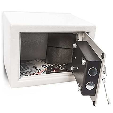 Relaxdays Free Standing or Wall Mount Home/Office Steel Safe with 2 Locking Bolts and 2 Keys