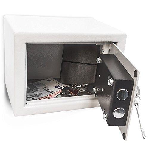 Relaxdays - Mini Caja fuerte hecho de acero cromado con medidas 23...