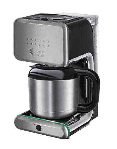 Russell Hobbs Illumina 20181-56 Thermo-Kaffeemaschine mit Brausekopf-Technologie und Schnellheizsystem silber / schwarz