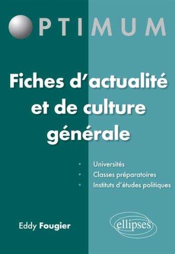Fiches d'Actualité et de Culture Générale