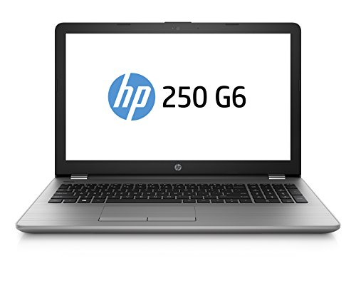 HP 250 G6 3QL57ES 39,6 cm (15,6 Zoll HD) Notebook (Intel Celeron N3550, 8GB RAM, 256GB SSD, Intel HD Grafik 400, DVD, FreeDOS 2.0) silber