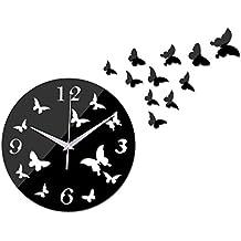 Lxlnxd Pastoral De Acrílico De Cuarzo Reloj De Pared En La Decoración Del Hogar Moderno De Lujo Relojes De Réplica Relojes De Pared Reloj De Cristal