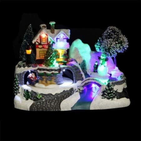 Village de Noël modèle Maison animé et Lumineux