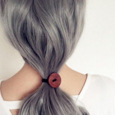 Elastique cheveux motif bouton