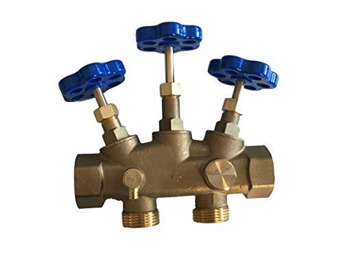 """Montageblock 1\"""" Zoll Wasserenthärtungsanlage Wasserentkalkungsanlage Entkalkungsanlage Wasserenthärtung Entkalkung Probeentnahme"""