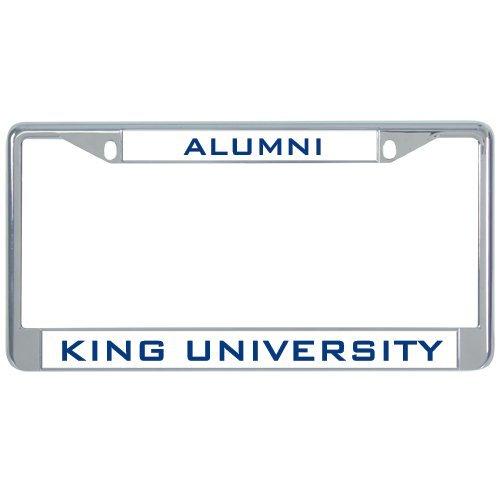 King Tornado Metall Nummernschild Rahmen in Chrom Alumni 30,5x 15,2cm