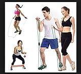 GRAND DELUX Bandas Elásticas Cuerda Saltar 3en1 Fitness Pack Ahorro, Cardio, Musculo, Recupera, Cuerda + Tubo 8 + Bandas Elásticas y Bolsa