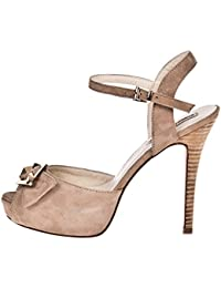 ROBERTO BOTELLA - Peep toes con adorno metal - Color Cuero - Talla 39
