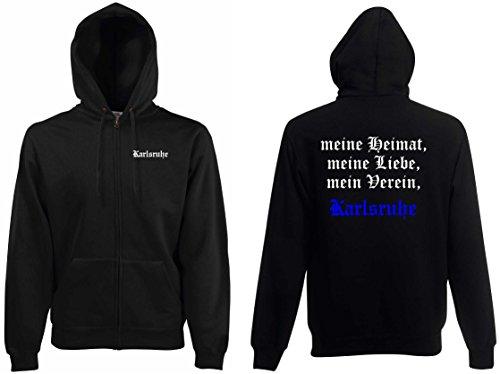 world-of-shirt Herren Kapuzenjacke Karlsruhe Ultras meine Heimat