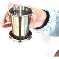Aliciashouse Acciaio Inossidabile Pieghevole Pieghevole Cup Viaggio Esterno Portatile Alcol