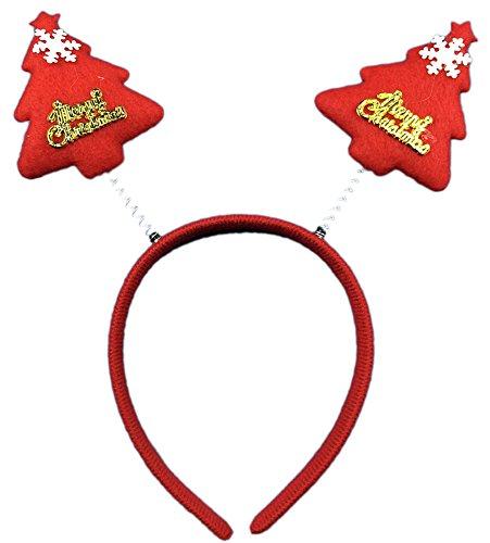 ihnachten Stirnband Kopf Wölbung, Rot Weihnachtsbaum (Weihnachtsbaum Kostüme Für Erwachsene)