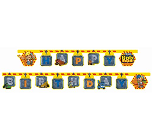 Hit 53822 Bob der Baumeister Party Dekoration Banner Happy (Der Dekoration Party)
