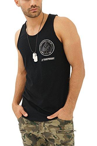 trueprodigy Casual Herren Marken Tank Top mit Aufdruck, Oberteil cool und stylisch mit Rundhals (Ärmellos & Slim Fit), Muscle Shirt für Männer in Bedruckt, Größe:XXL, Farben:Schwarz