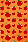 Journal: Orange hearts apples notebook