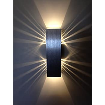 Coocnh 3w led wall light indoor aluminum modern effect for Applique exterieur up down