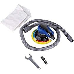 ForceSthrength Polisseur pneumatique de broyeur de Ponceuse pneumatique portative avec Tampon de ponçage sous Vide de 5 Pouces