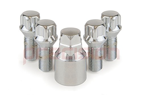 Chrome Locking Bolts for Aftermarket Alloy Wheels M14x1.5x26mm✓ 60/° Taper✓ Part No.B14AM