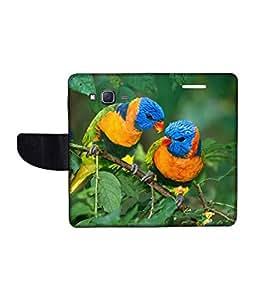 KolorEdge Printed Flip Cover For Samsung Galaxy J5 Multicolor - (1478-50KeMLogo10593SamJ5)