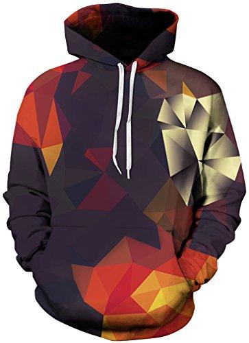TDOLAH Herren 3D Druck Sweatshirts Weihnachten Pullover mit Aufdruck Herbst Hemd Kapuzenpullover Langarm Top Jumper Shirt (Größe S / M, Dimensionalität)