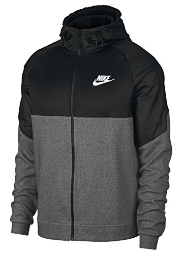 Nike Herren Sportswear Advance 15 Hoodie Fz Ssnl Kapuzenpullover, Charcoal Heathr/Black/White, XL (15 Hoodie)