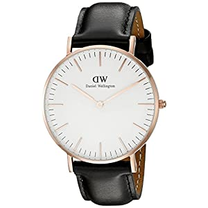 Daniel Wellington Classic Damen-Armbanduhr Analog Quarz Leder – DW00100036