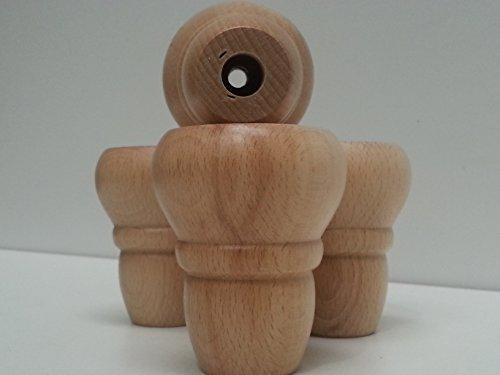 Knightsbrandnu2u 4 x Füße aus Massivem Holz für Möbel, Schubladen, Schränke, Bücherregale, Schränke Etc. (Ashley Furniture Bücherregal)