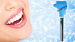 Rumpes Hot New Releases Professional Tooth Polisher Whitener Stain Remover with LED Light Luma Smile with 5 Rubber Cups(Blue)