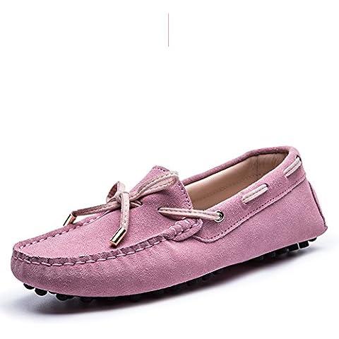 Primavera ed estate piselli scarpe/Piatto scarpe da donna/Scarpe athletic auto/scarpe casual/Leather scarpe tacco piatto