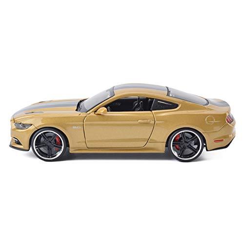 IVNGRI-Auto Model Legierung Modelle Autos 1:24 Ford Mustang GT Original Stil Druckguss Sammler Modellauto Dekoration Kunsthandwerk, gold (Nissan Model Kit Auto)