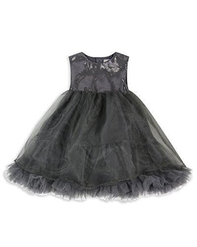 (The Essential One - Baby Kinder Mädchen Party Kleider Kleid Sequins - Silber - 6-9m - EOT609)