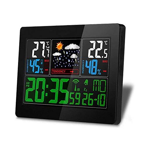 Toolmore Eu Stecker Funk Wetter Station Indoor Au?en Wetter Station Hygrometer Thermometer Wecker Mit Au?en Sensor