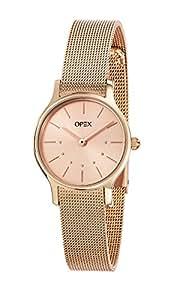 Opex - X4076MA1 - Anita - Montre Femme - Quartz Analogique - Cadran Doré - Bracelet Acier Doré