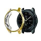 Funda/Protector de Pantalla, Zolimx TPU Suave Ultrafino Funda de Silicona de Protección Función Anticolisión Ajuste Preciso para Samsung Galaxy Watch 42mm (Oro)